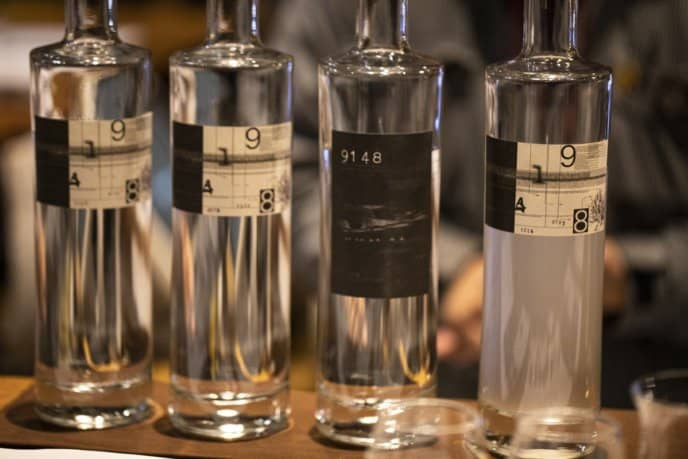 '9148' is Hokkaido's first craft gin created Benizakura Distillery.