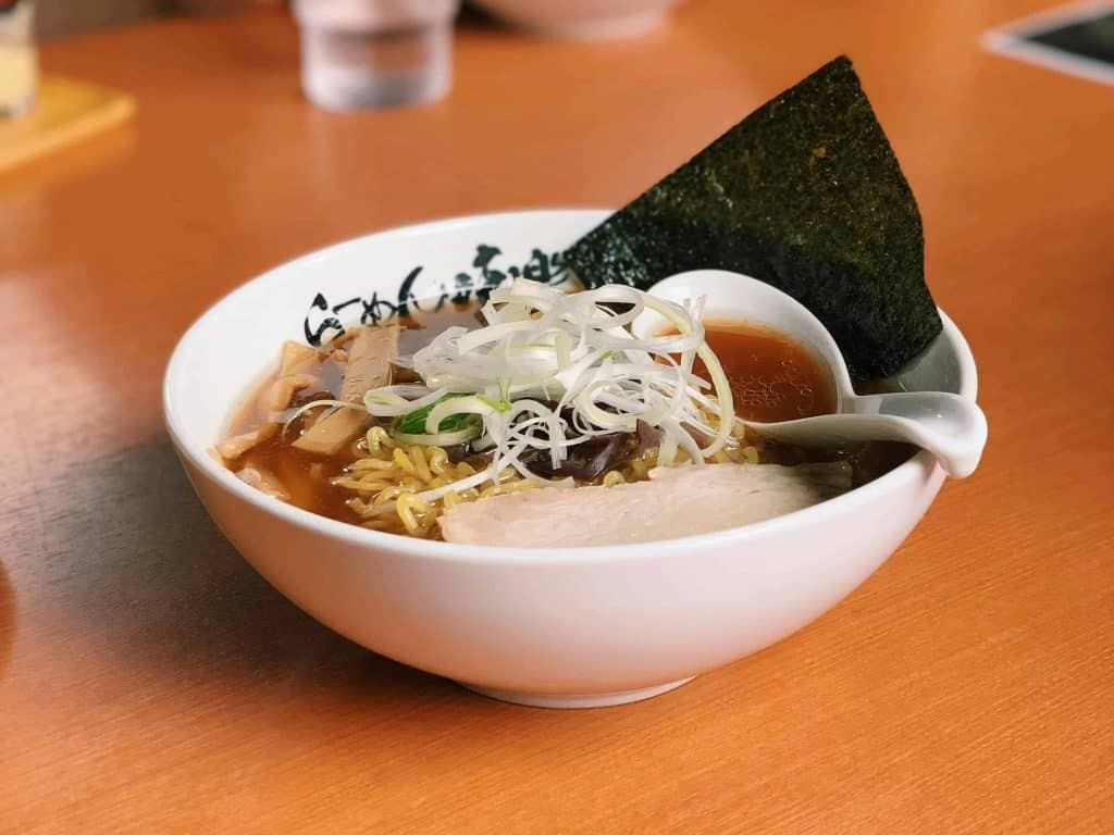 Shoyu (soy sauce-based) Ramen from Miraku in Rishiri Island, Japan. Photo by courtesy of Mok Yun Liu