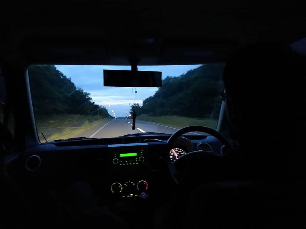 Late night drive to Wakkanai, Rishiri Island and Rebun Island, Hokkaido Japan.