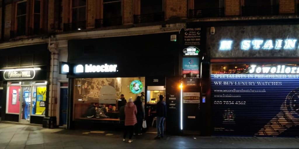 Line forming outside of Bleecker Victoria. Photo Credit: Honest Food Talks
