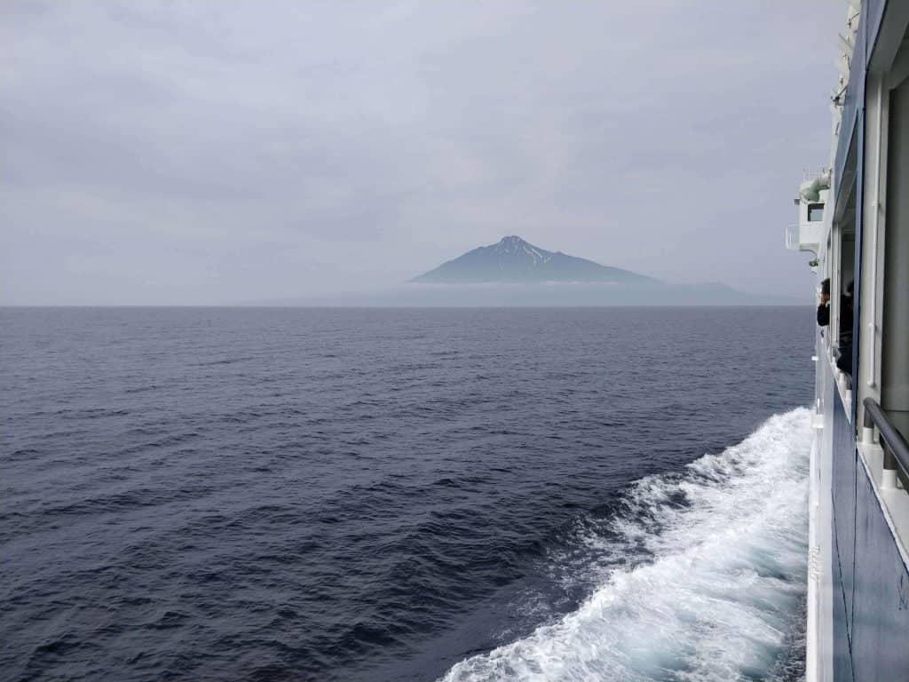 Rishiri Island Ferry from Wakkanai to Oshidomari, Rishiri Island, Hokkaido.