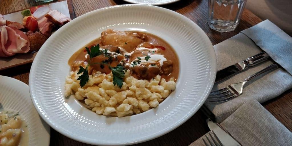 hungarian food chicken paprikash