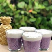 Ube & Coconut Pudding, a Colourful Summer Dessert