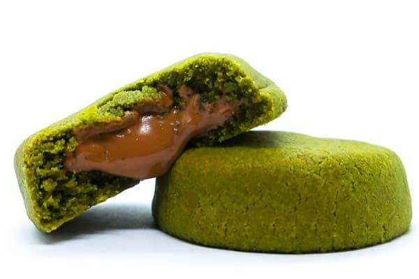 matcha-chocolate-filling-cookies