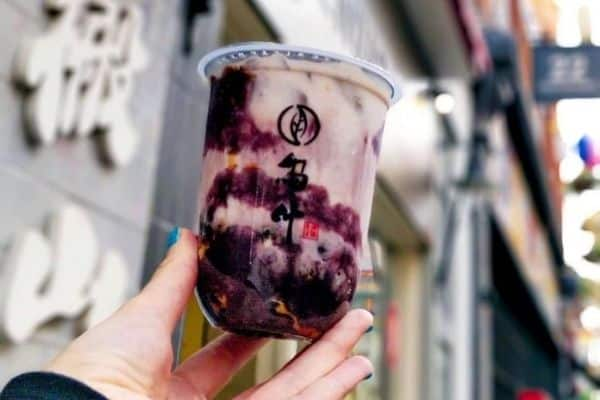 Purple Potato Oolong Bubble Tea London Woo Tea
