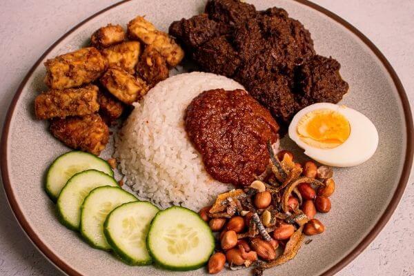 Nasi Lemak Santan Boi Rendang Malaysian Food