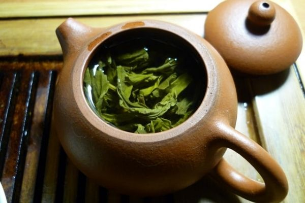 Green Tea in a pot