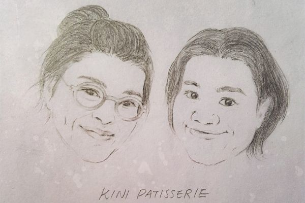Kini Patisserie co-founders drawing