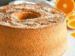 oat milk orange chiffon cake