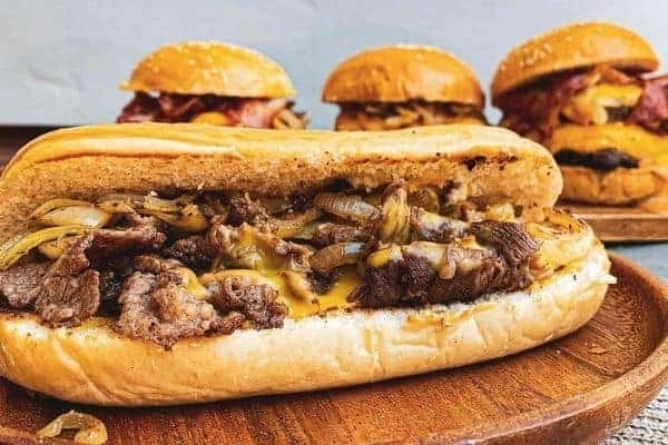 Cheesesteak sandwich from Philadelphia