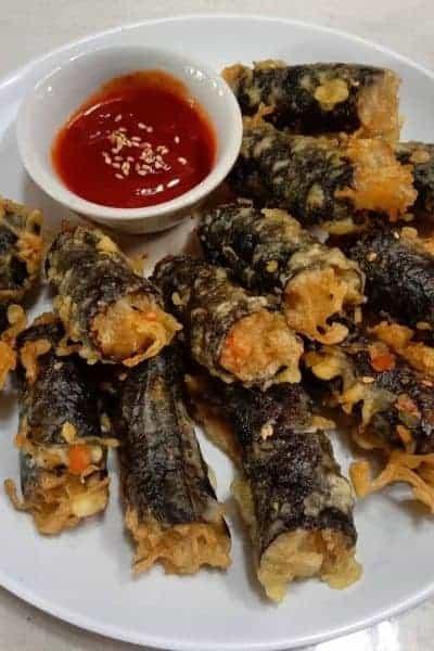 Kimari with hot chili sauce