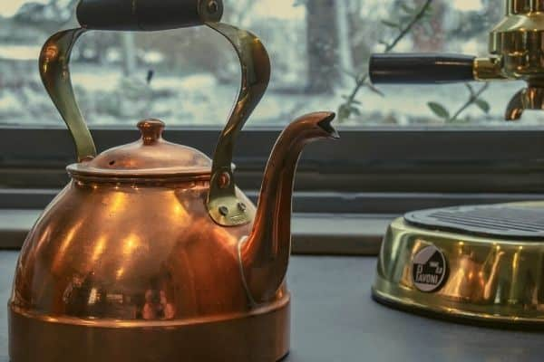 How to clean copper tea kettle