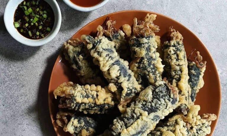 Kimari korean fried seaweed roll recipe