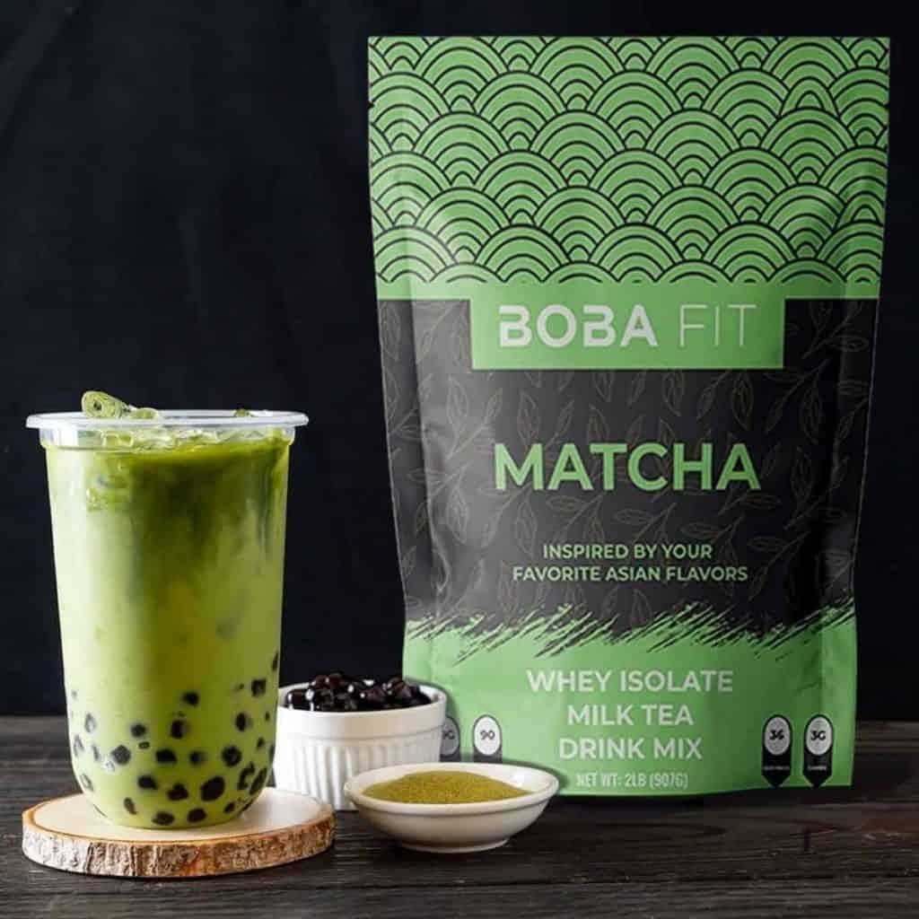 Boba Fit Whey Isolate Milk Tea Matcha Flavour
