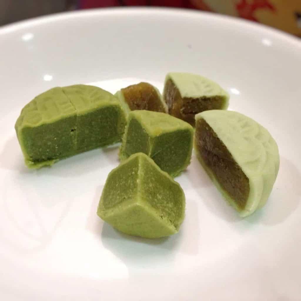 Green Tea Mung Bean Filling Mooncake
