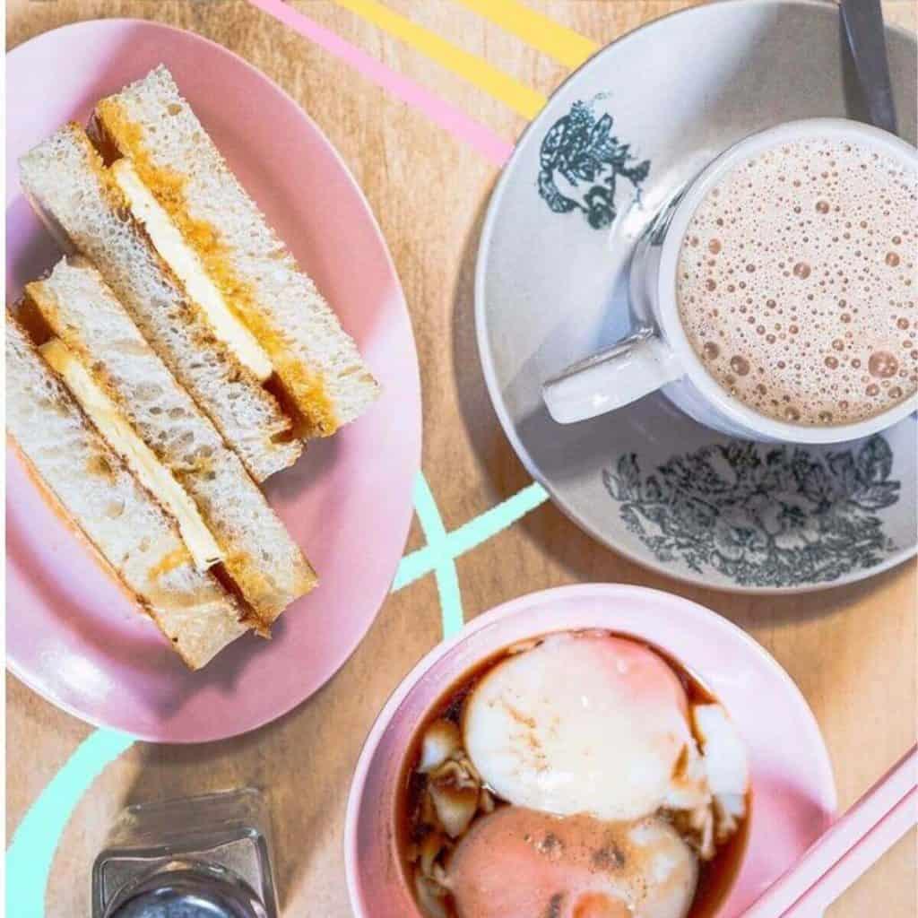 Kaya toast and egg Mei Mei