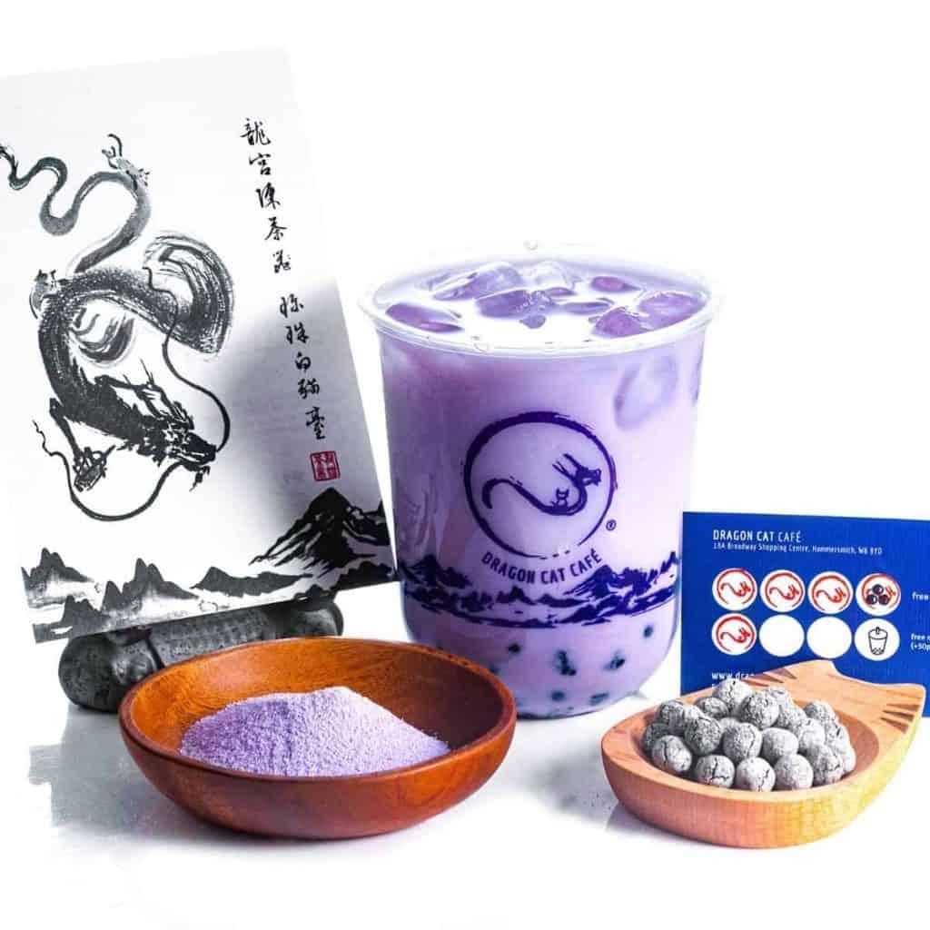 Taro Milk Tea, Dragon Cat Cafe