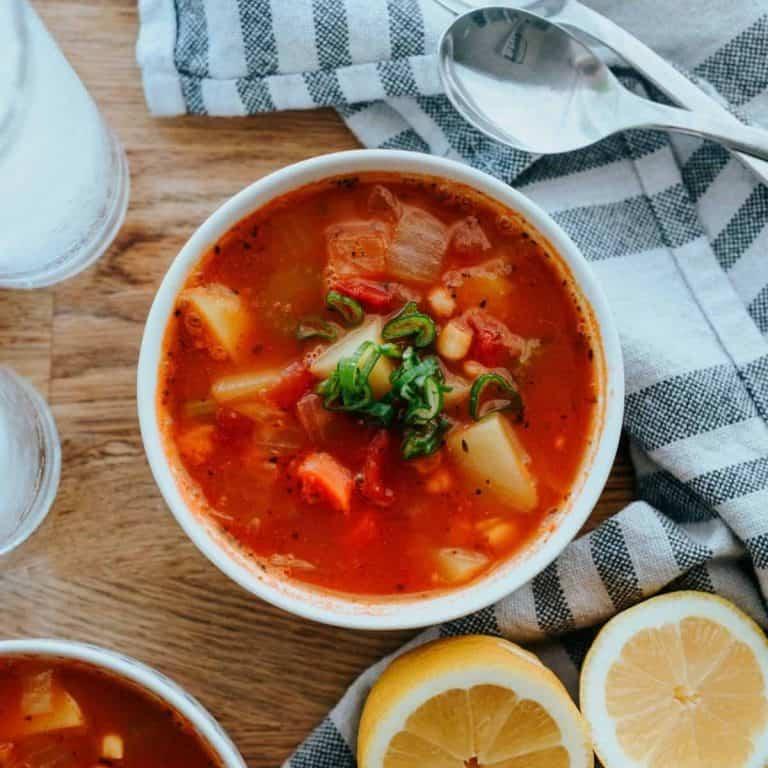 tomato and potato stew soup