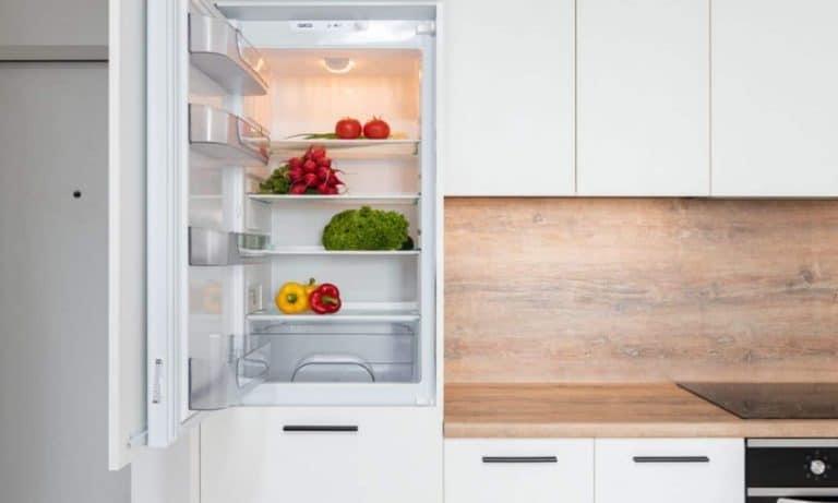 A clear and clean fridge