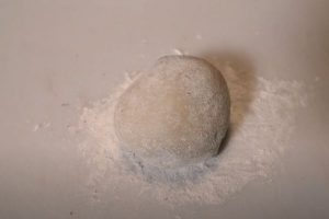 Dust the mochi with a bit of potato starch before serving
