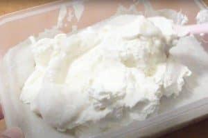 Fold the heavy cream into the puree until even