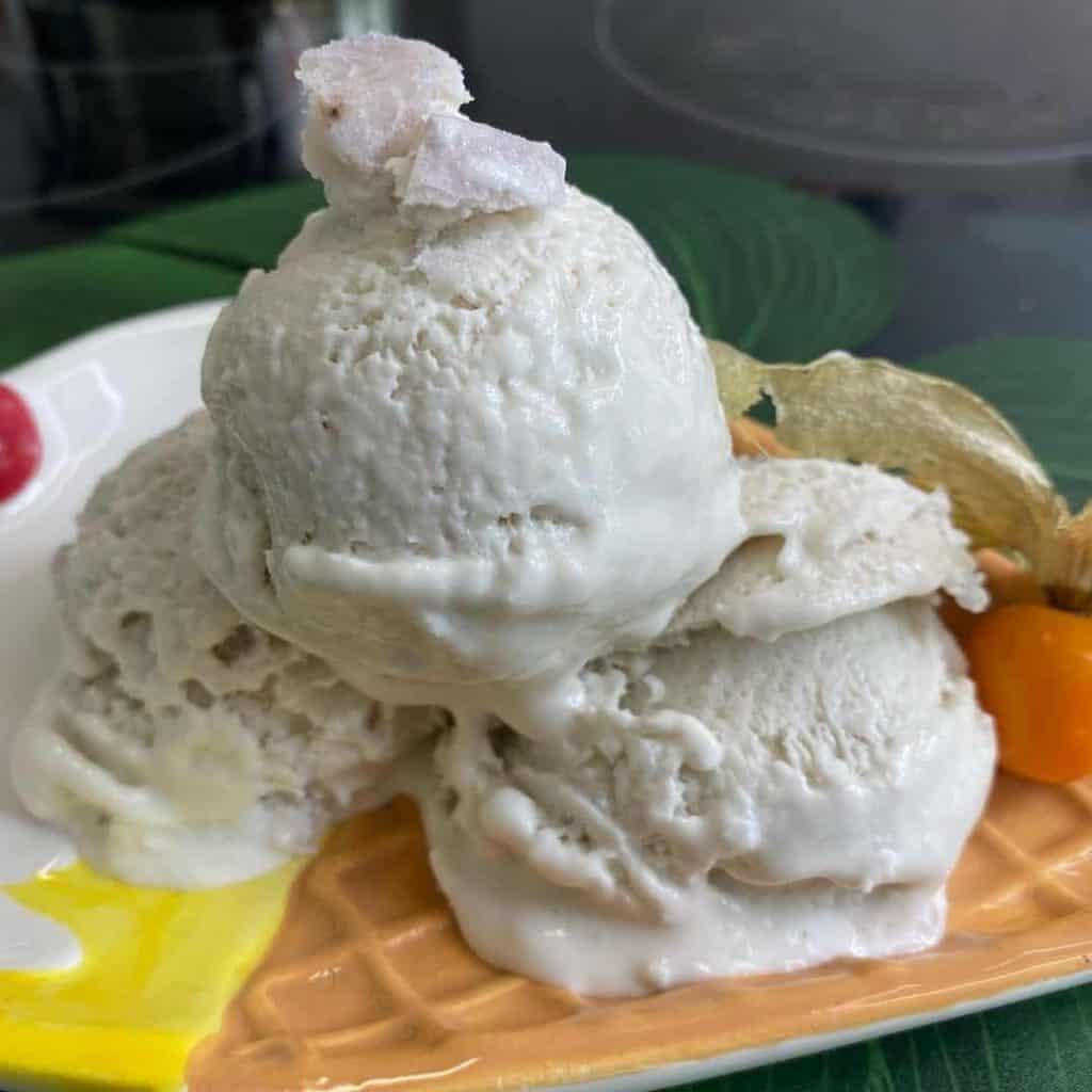Home made taro ice cream
