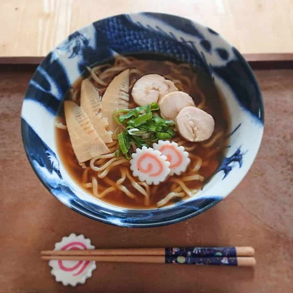 Japanese fish cake as a topping on noodles like Soba