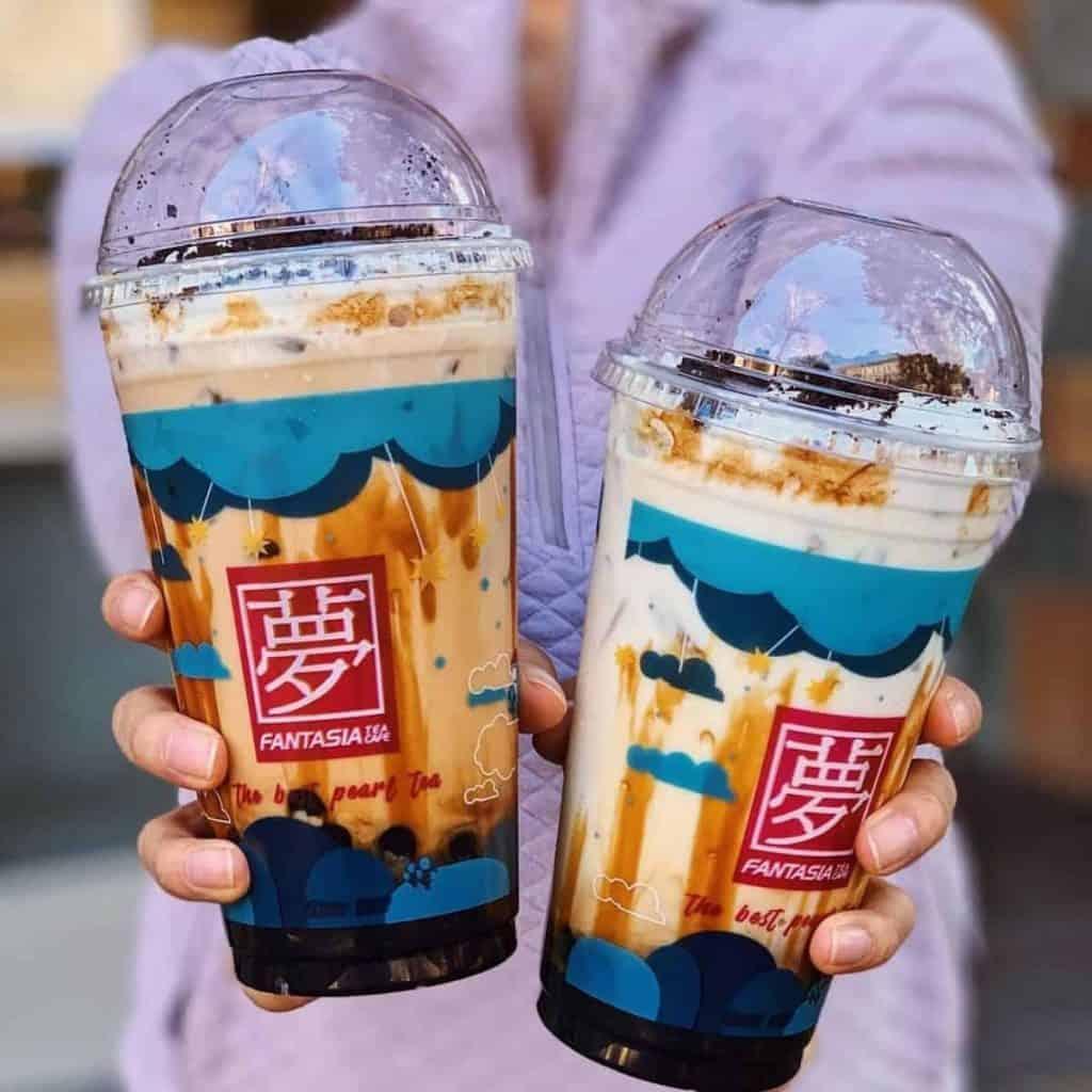 Okinawa milk and muddy bubble tea by Fantasia Tea Cafe