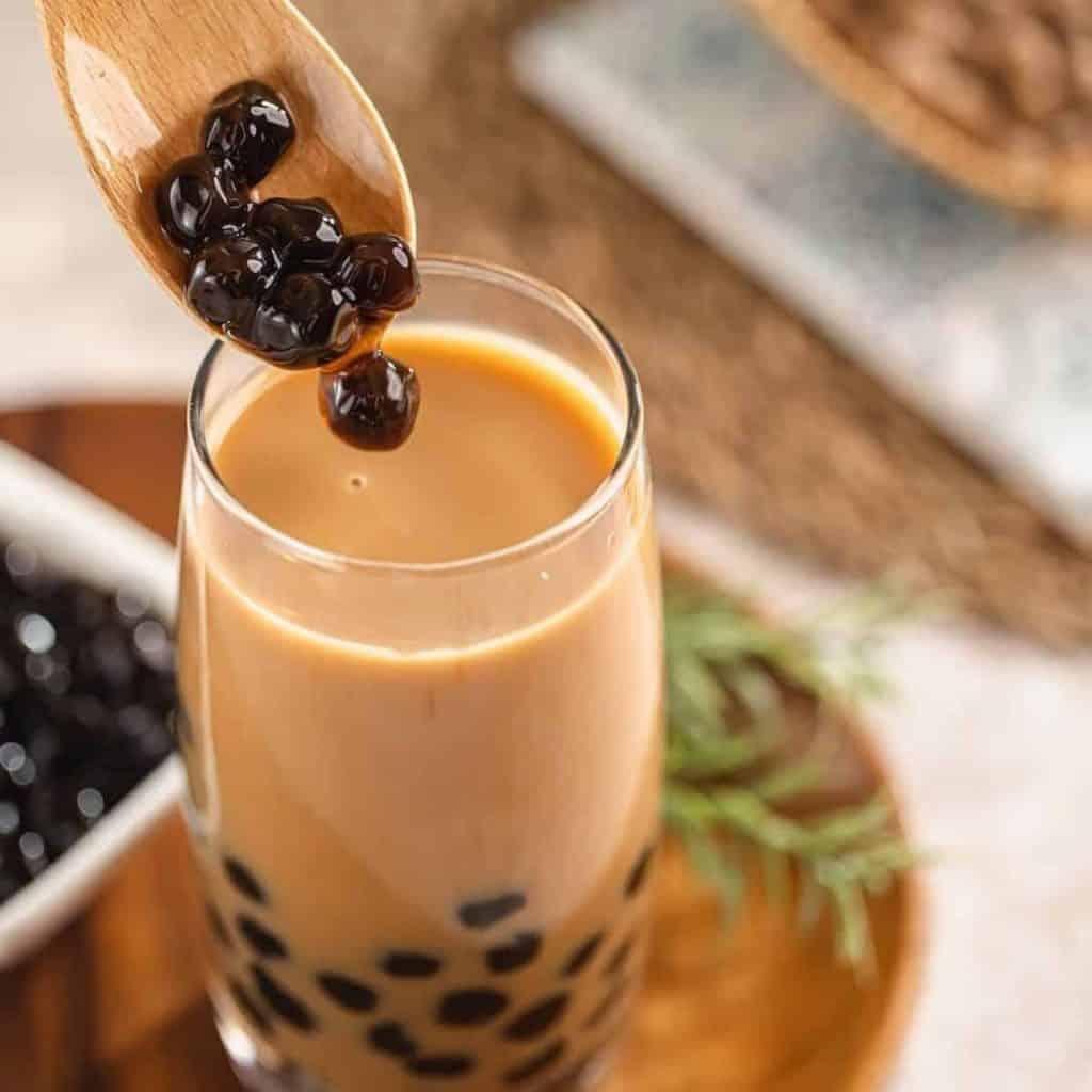 Boba tea recipe using fresh tapioca pearls