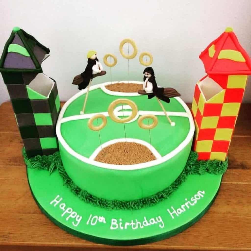 Quidditch themed birthday treat