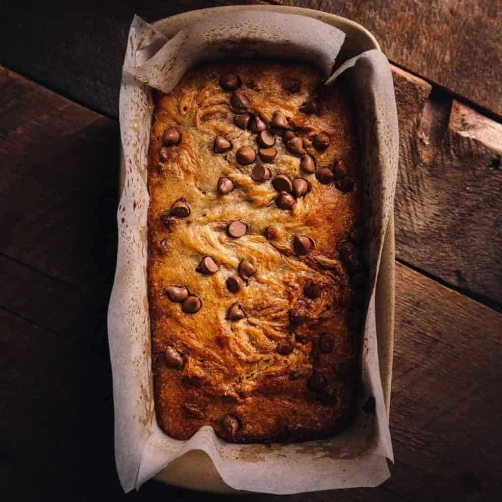 Regular banana pastry with chocolate chips