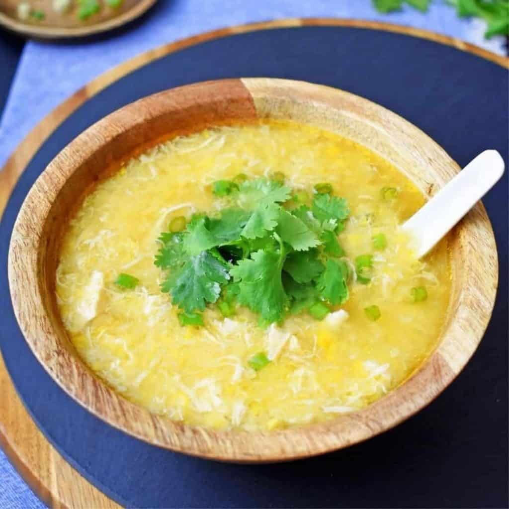 A classic Chinese takeaway soup dish
